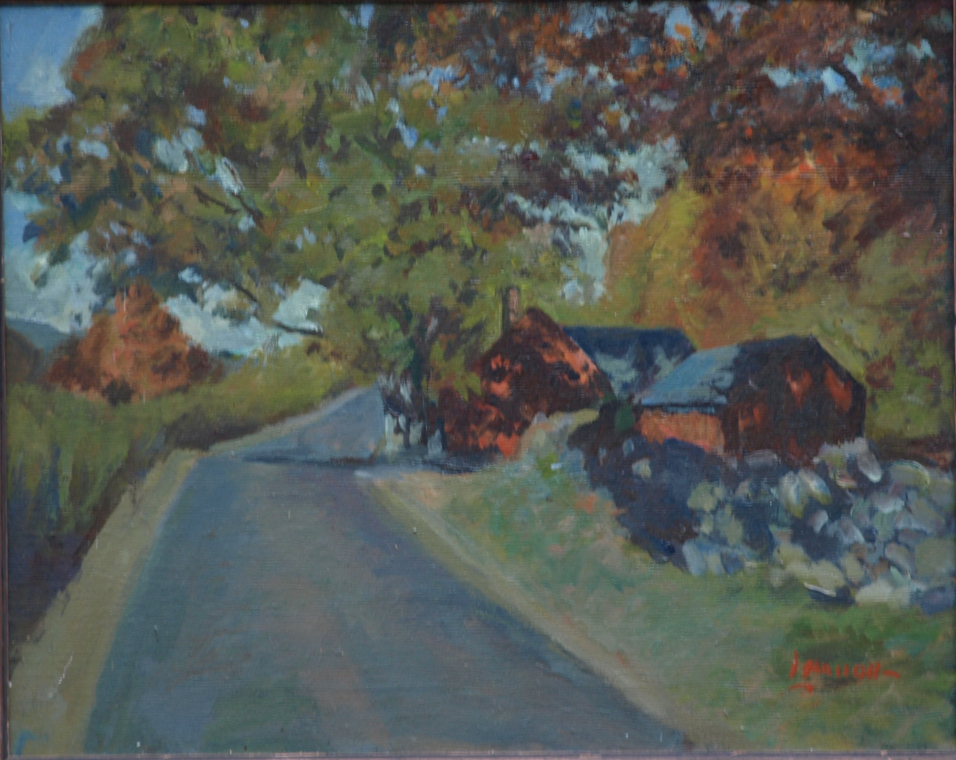 Brown's Forge, Oil on Canvas, 16 x 20 Inches, by Bernard Lennon, $450
