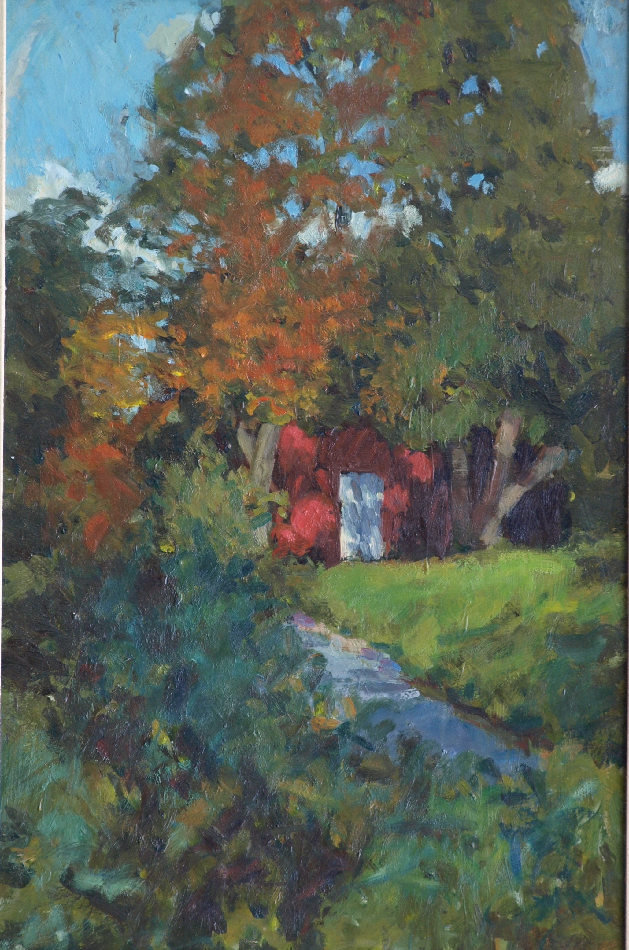Hattie's Barn, Oil on Canvas, 16 x 24 Inches, by Bernard Lennon, $650