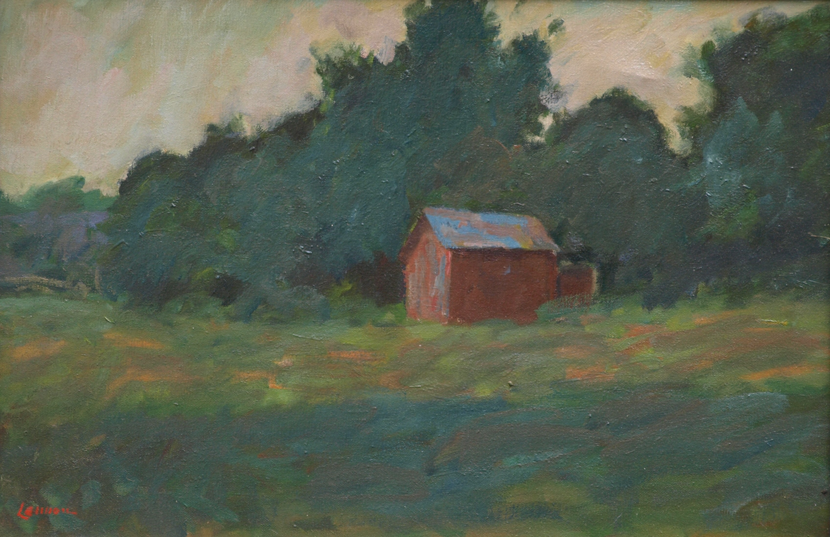 Lane's Barn, Oil on Canvas, 16 x 24 Inches, by Bernard Lennon, $650