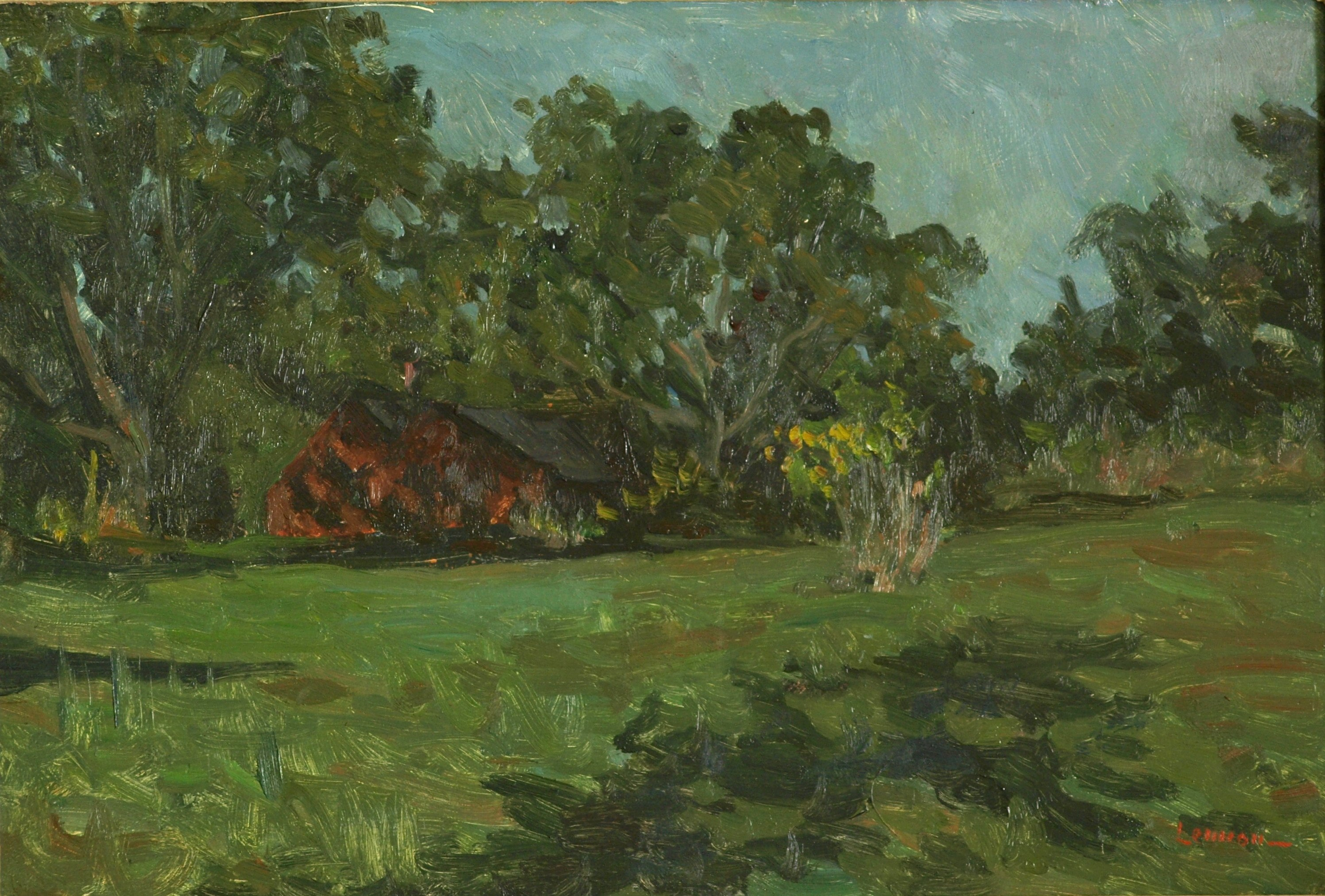 New England Summer, Oil on Panel, 16 x 24 Inches, by Bernard Lennon, $675