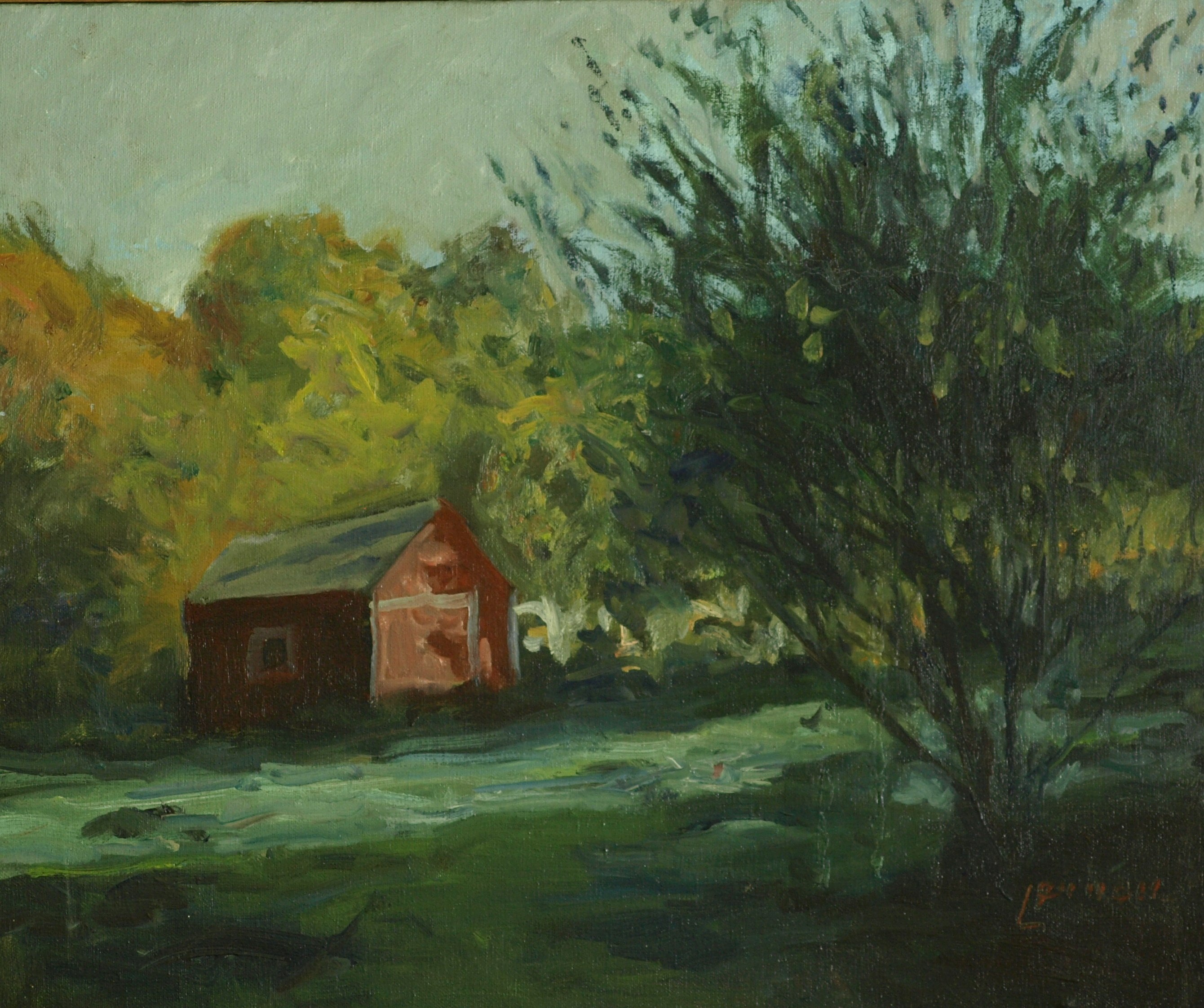 Summer Afternoon, Oil on Canvas, 20 x 24 Inches, by Bernard Lennon, $875